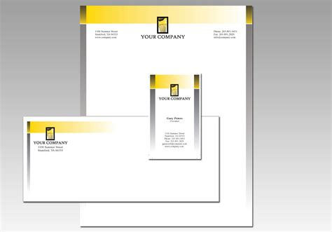 free stationery design template download free vector art