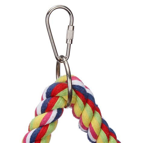 parrot rope swing bird parrot toy hanging swing cages rope pet chew bell