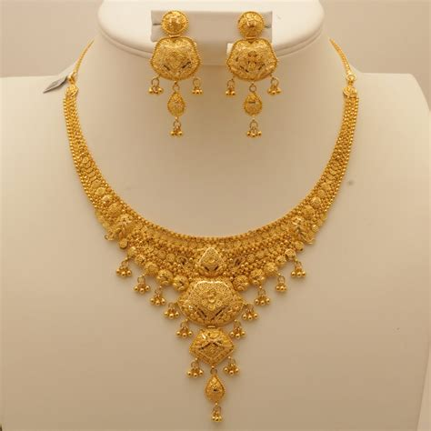 Gold Necklace 22 carat indian gold necklace set 53 7 grams gold forever