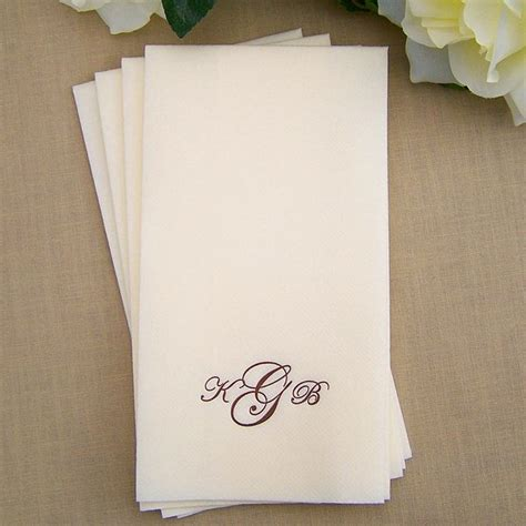 Disposable Towels For Bathroom by Wedding Towels Personalized Linen Like Disposable White