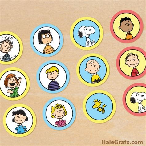 theme line snoopy free free printable peanuts cupcake toppers peanuts