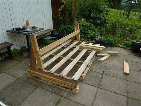 how to make a sofa out of pallets diy pallet outdoor sofa with cushion tutorial 99 pallets