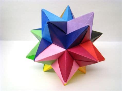 Modular Origami - modular origami multicolored by origami
