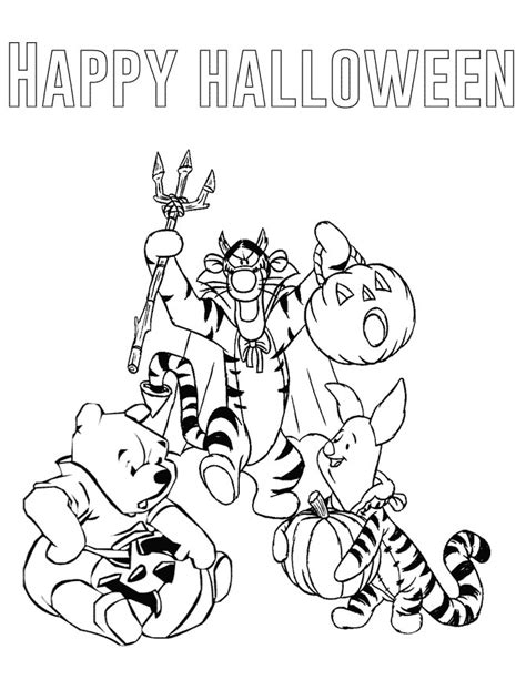 halloween coloring pages winnie the pooh winnie the pooh halloween coloring page h m coloring pages