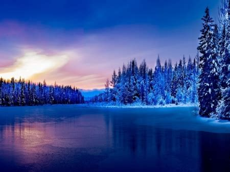 winter lake lakes nature background wallpapers