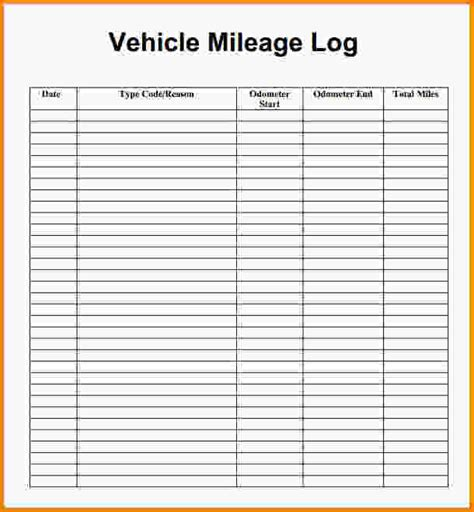 vehicle mileage log template cblconsultics tk