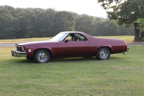 1973 el camino ss 454 1973 el camino ss 454 maroon in color new seat covers