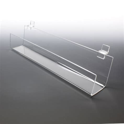 clear acrylic j shelves for slat walls buy bulk displays