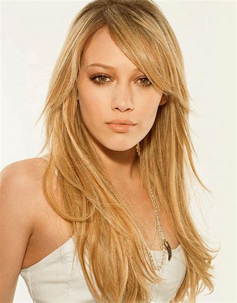 blonde hairstyles side fringe trendy long blonde hairstyles with side bangs for woman