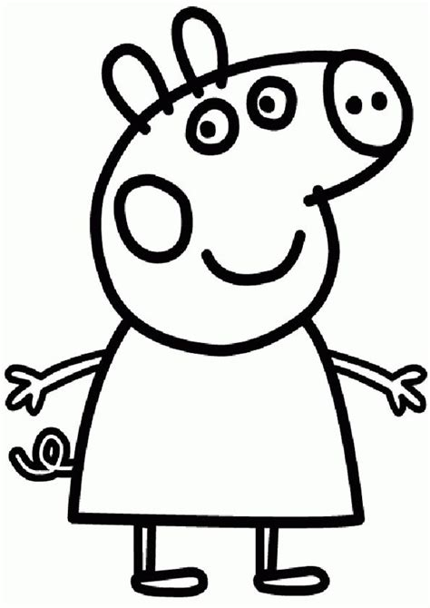 peppa pig birthday coloring page free peppa pig coloring pages personal pinterest