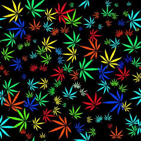 colorful marijuana colorful abstract seamless pattern with colorful marijuana