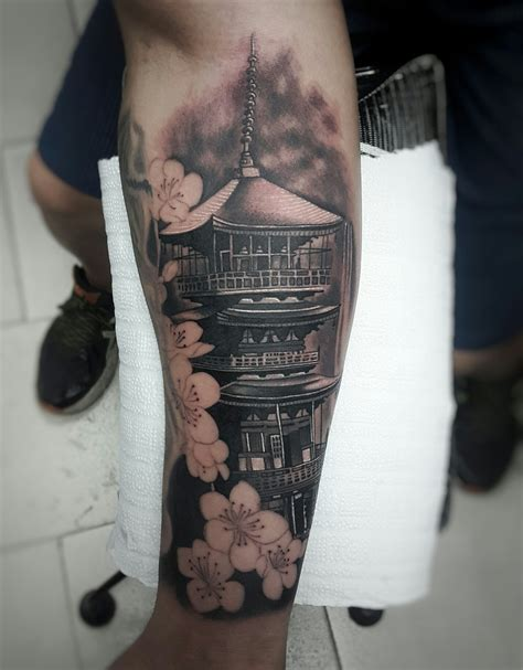 body temple tattoo pagoda tatuajes tatoo and