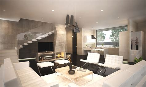 Modern Interior Design by Custom Home Plans Contemporary Interior Design