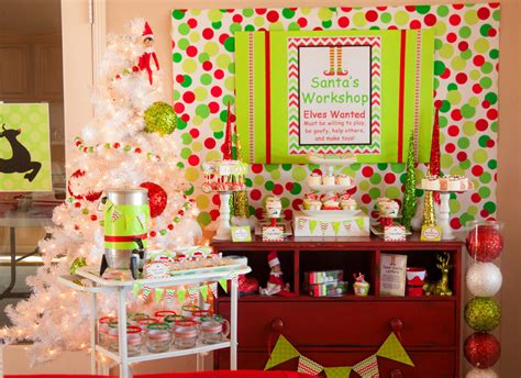 cute themes for christmas parties santa s workshop party elf on the shelf ideas lillian