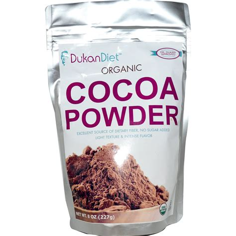 Powder Cocoa Coklat Powder dukan diet organic cocoa powder 8 oz 227 g iherb