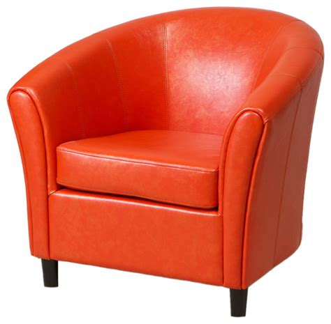 Orange Club Chair by Newport Leather Club Chair Orange