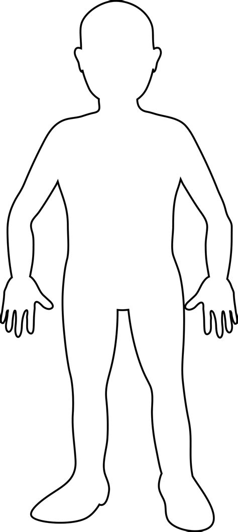 Human Body Outline Printable Blank Person Template Free Download Clip Art Free Clip Art Human Template