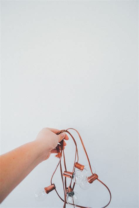 rose gold string lights modern light fixtures you can diy this weekend freshome com