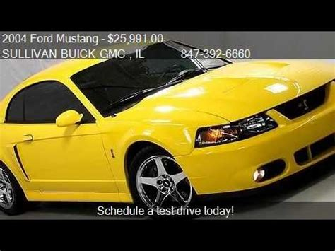 Sullivan Pontiac 2004 Ford Mustang Cobra For Sale In Arlington Heights