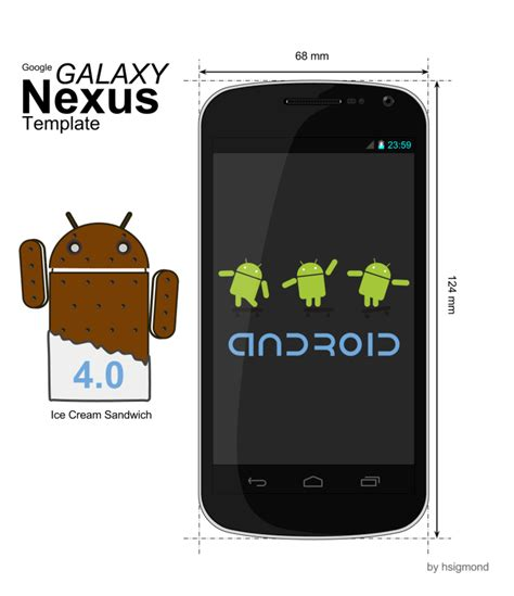 nexus 5 skin template android devices samsung galaxy nexus template by