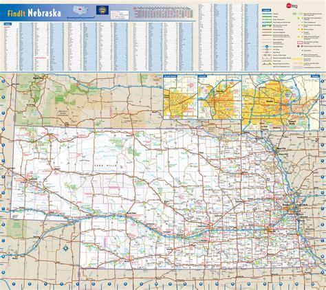 usa map nebraska large detailed roads and highways map of nebraska state