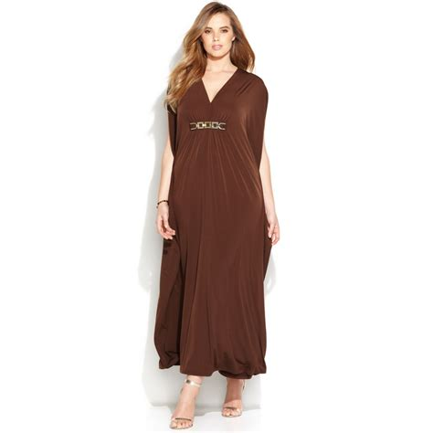 Dress Brown maxi plus size brown dress fashion week collections gossip style