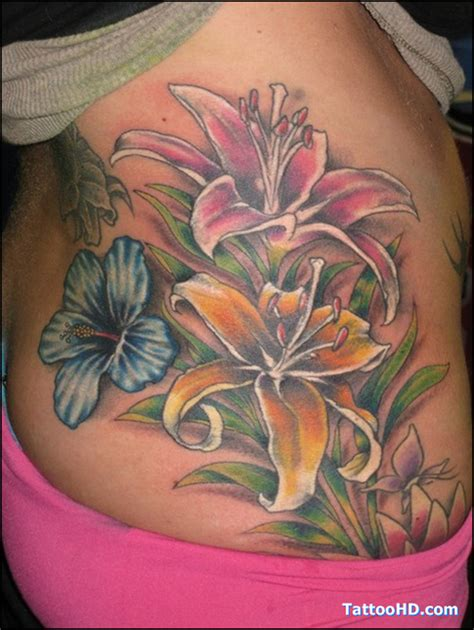 side flower tattoo designs hibiscus flowers on rib side 2 tattoos book 65
