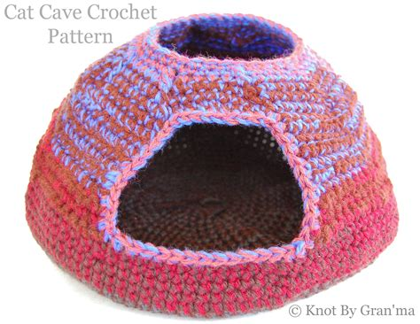 crochet pattern cat cave cat cave knot by gran ma