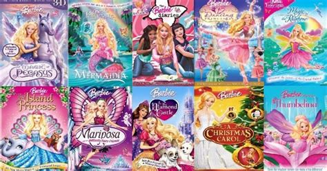 barbie film order the complete list of barbie movies how many have you seen