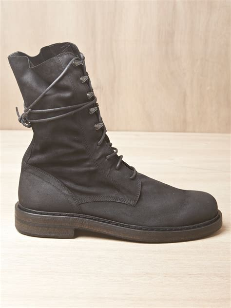 demeulemeester boots demeulemeester mens scamosciato boots in black for