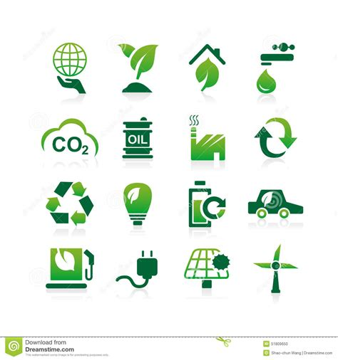 Eco Light In Car by Green Environment Eco Icon Stock Vector Image 51809650