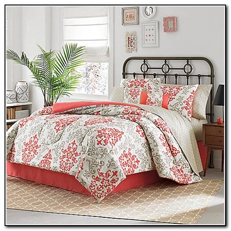 coral color comforter coral colored bedding sets beds home design ideas