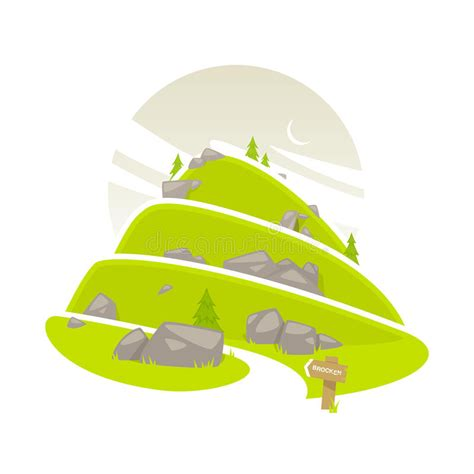 clipart montagna chemin de montagne illustration de vecteur illustration