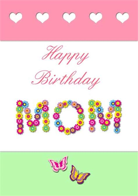 printable happy birthday mother cards birthday cards for daughter from mom and dad images