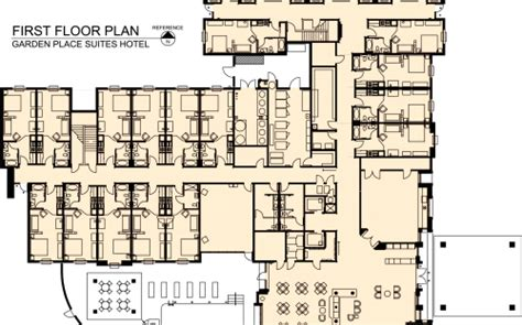 Small Camp Floor Plans by Garden Place Suites Hotel Raymond E Barnes Design Architecture Llc College Of Architecture