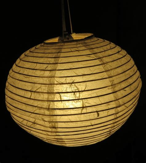 Handmade Lanterns From Paper - 12 inch white mulberry paper lantern light decor