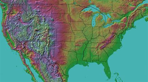 america map landforms landform map of the united states