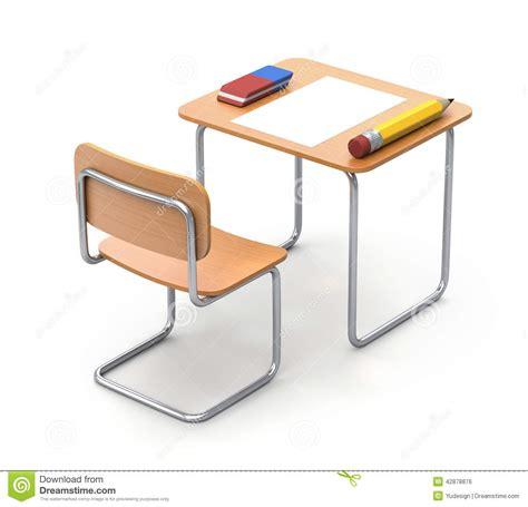 Bureau D 233 Cole Avec Le Crayon Et La Gomme Illustration Bureau D école