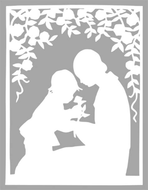 card template for cricut free papercutting templates papercutting template and
