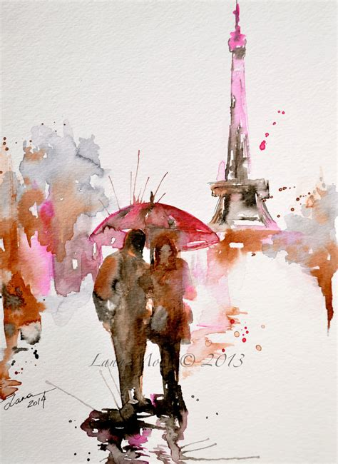 paris in bloom paris in bloom watercolor original illustration travel paris