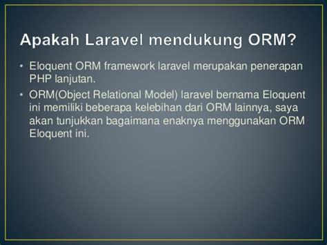 laravel orm tutorial tugas 4 rekayasa web