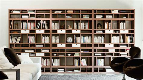 foto librerie libreria modulare moderna bifacciale brick sololibrerie
