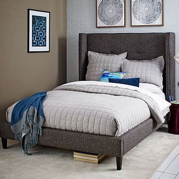 west elm schlafzimmer ideen tufted wingback bed west elm