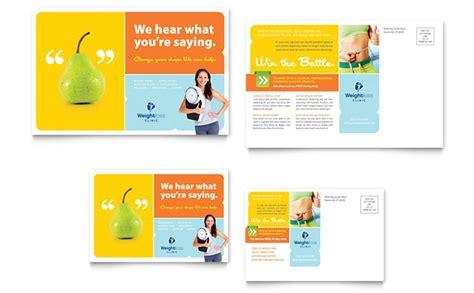 Weight Loss Clinic Postcard Template Design Weight Loss Testimonial Template