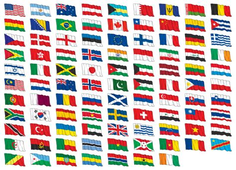 flags of the world waving igoflags world flags flag images vector icons banners