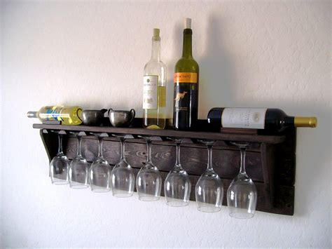 Wine Shelf unique wine rack pallet wood wine rack walnut brown or