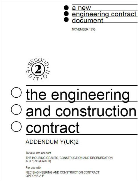 engineering contract template construction contract form free word pdf excel format