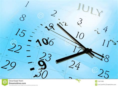Faced Calendar by Clock And Calendar Royalty Free Stock Image Image