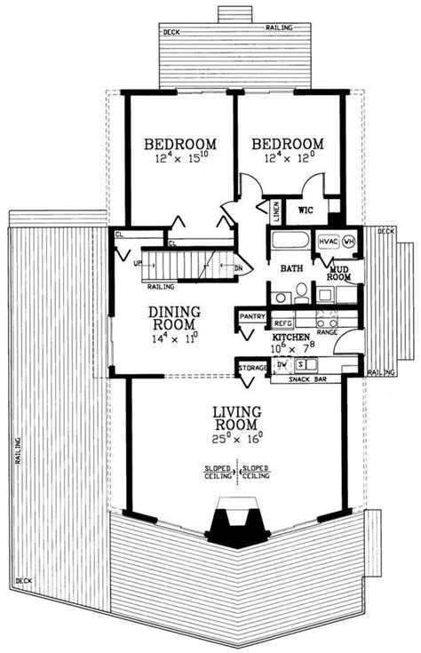 Small Kitchen Floor Plan the a frame house plan revisting a 50s sensation