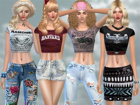 sims 4 updates sims finds sims must haves free sims pinkzombiecupcakes summer dreamer set sims 4 updates